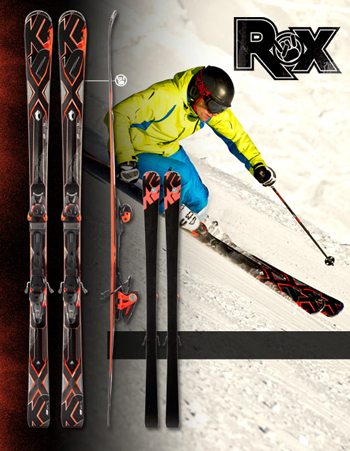 K2 Bolt With ROX System a GS Skis